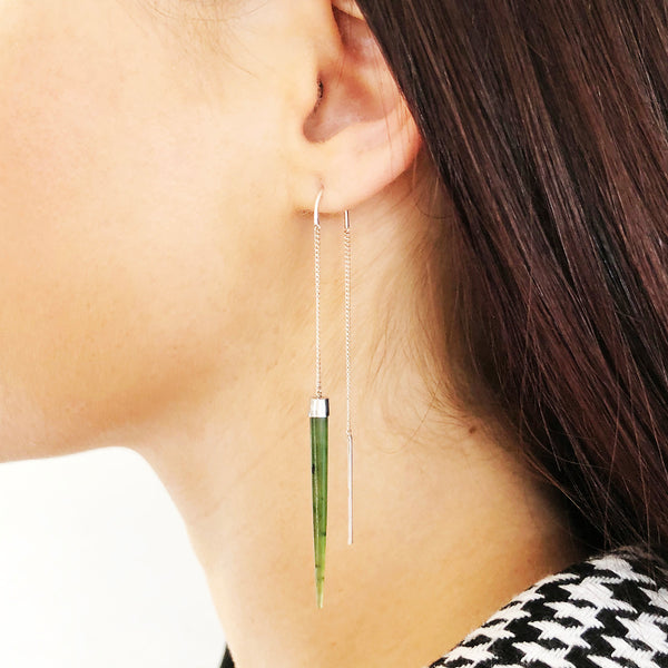 Pounamu Slipstream earrings