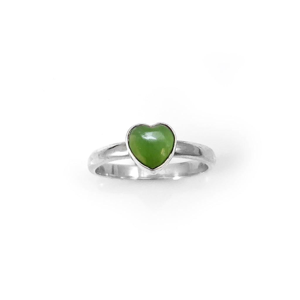 Pounamu Heart Ring