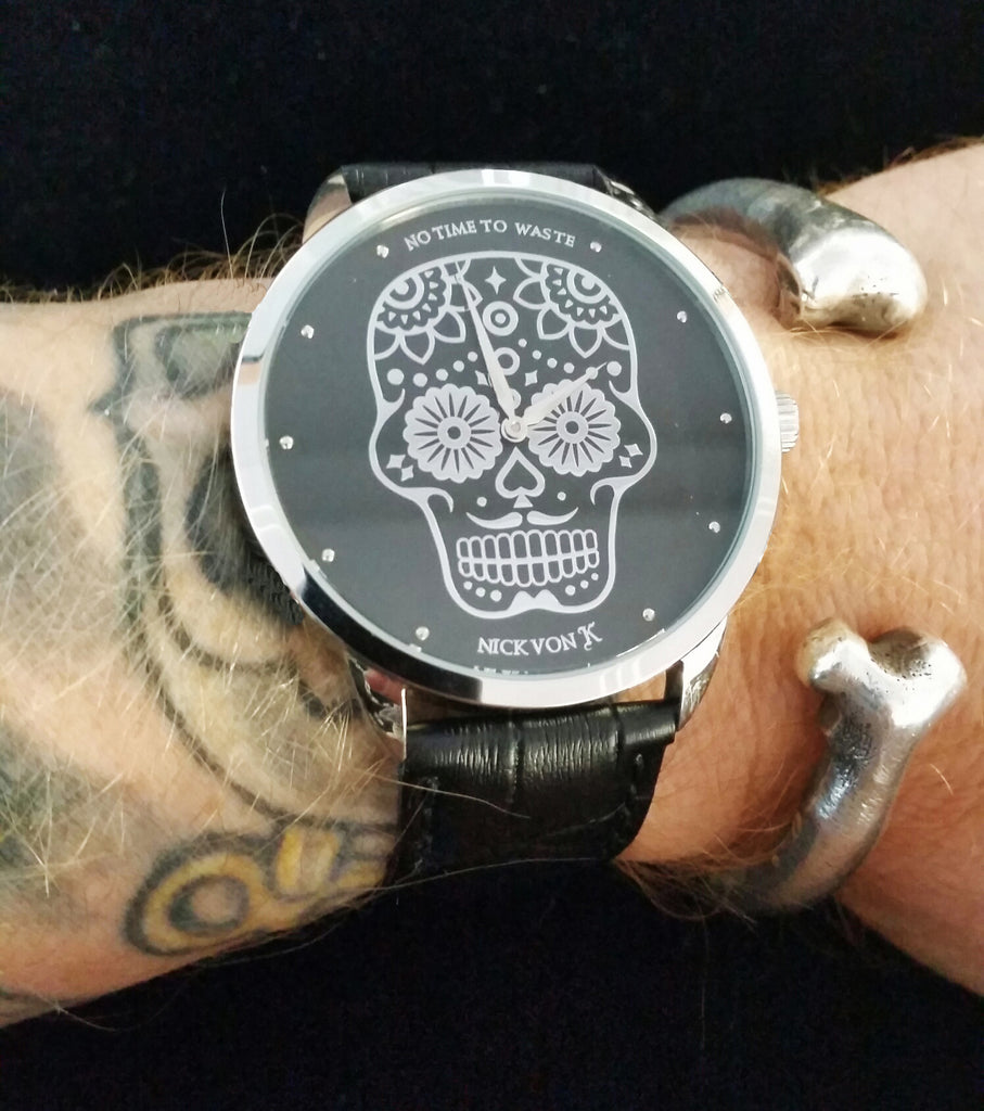 """No Time To Waste"" Polished Steel Watch"