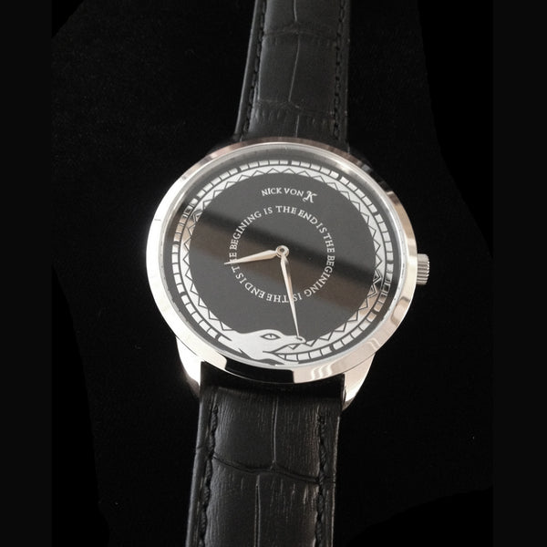 """The End Is The Beginning"" Polished Steel Watch"