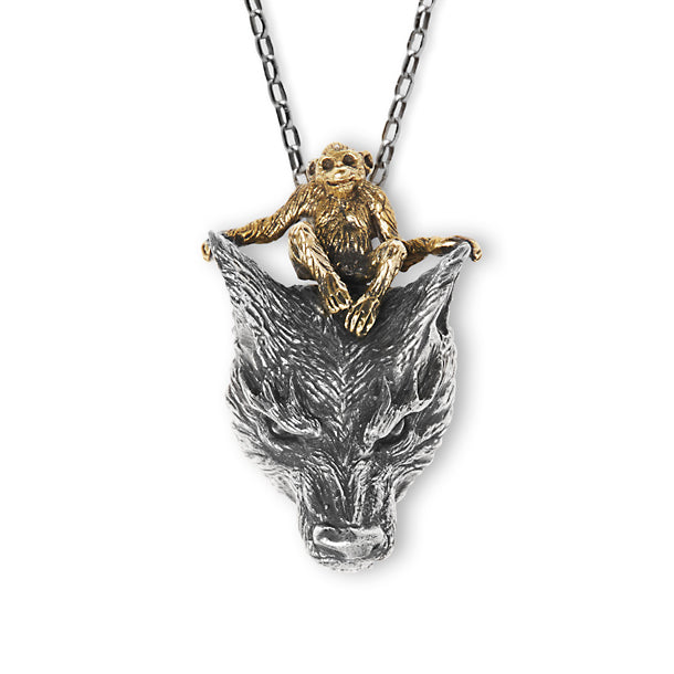 Wolf Monkey Necklace