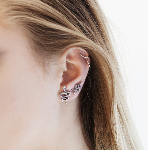 Double Headed Snake Studs