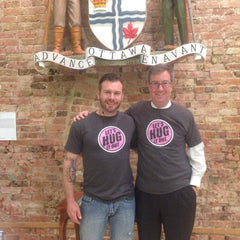 Let's Hug It Out Co-Founder Matthew Britt with Mayor Jim Watson of Ottawa