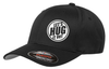 Black hat with white logo of let's hug it out