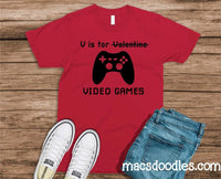 Infant-Adult V is for Video Games Graphic Tee