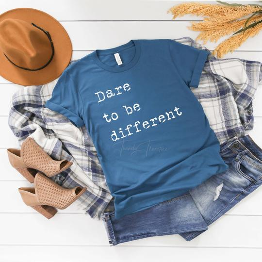 Youth & Adult Dare to be Different Graphic Tee