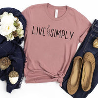 Youth & Adult Live Simply Graphic Tee