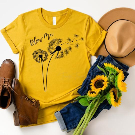 Adult Dandelion Blow Me Graphic Tee