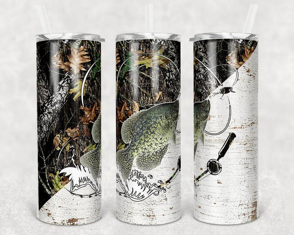 Fishing Camo Stainless Steal Tumbler