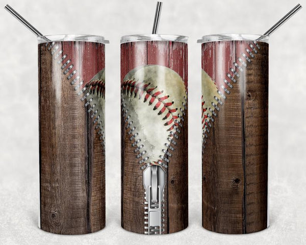 Baseball Zipper Stainless Steal Tumbler