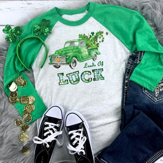 Youth & Adult Loads of Luck Graphic Raglan
