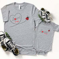 Mommy & Me Love Bug Graphic Tee