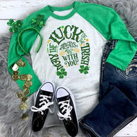 Youth & Adult The Luck of the Irish Graphic Raglan