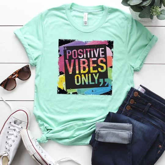 Youth & Adult Positive Vibes Only Graphic Tee