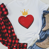 All Sizes King & Queen of Hearts Graphic Tee