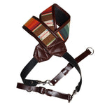 CUSTOM CLASSIC MEXICAN BLANKET VINTAGE BROWN CAMERA STRAP HEAVY LEATHER NYC MADE IN THE USA MIRRORLESS DSLR PHOTOGRAPHY PHOTOGRAPHER PHOTO LENSE OUTDOOR ADVENTURE WEDDING FOTO