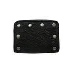 CUSTOM BLACK AMERICANA EASY RIDER STUDDED VINTAGE STYLE 1960'S 1970'S 1980'S ROCKABILLY PUNK HEAVY METAL ROCK 'N' ROLL WALLET HEAVY LEATHER NYC MADE IN THE USA