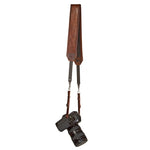 CUSTOM CLASSIC CAMERA STRAP HEAVY LEATHER NYC MADE IN THE USA MIRRORLESS DSLR PHOTOGRAPHY PHOTOGRAPHER PHOTO LENSE OUTDOOR ADVENTURE WEDDING FOTO VINTAGE BROWN
