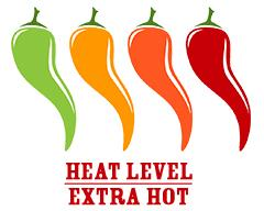 Extra hot heat level