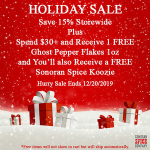 Sonoran Spice Holiday Sale Save 15%