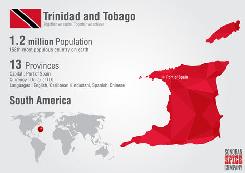 Trinidad and Tobago Map | Sonoran Spice