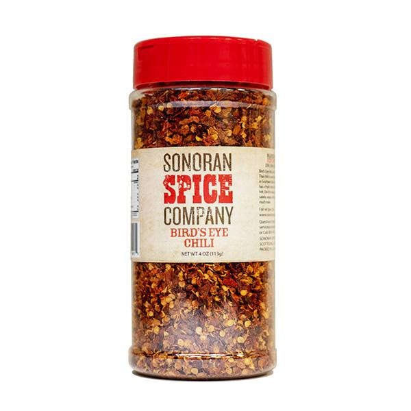 Bird's Eye Chili Flakes birds eye pepper Sonoran Spice 4 Oz