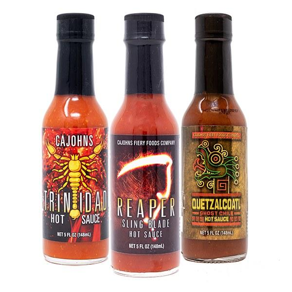 CaJohns Fiery Hot Sauce 3 Pack Hot Sauce CaJohns Fiery Foods Co.