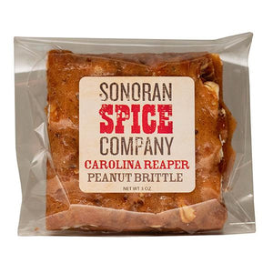 Carolina Reaper Peanut Brittle 3 oz Spicy Peanut Brittle DCs Korner
