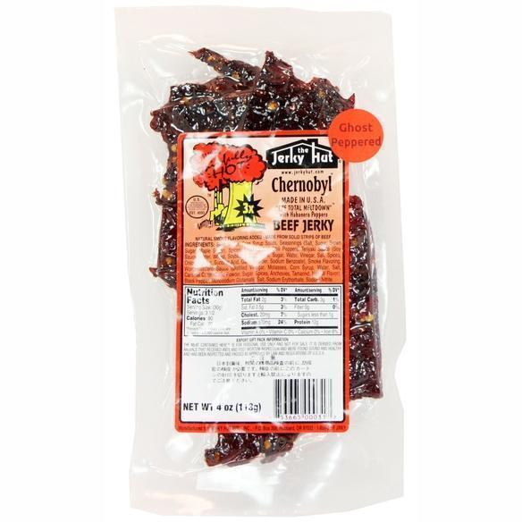 Ghost Pepper and Habanero Chernobyl Beef Jerky 4 oz Spicy Jerky Sonoran Spice