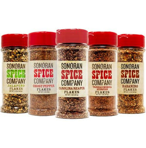 World's Hottest Pepper Flakes 5 Pack Carolina Reaper Flakes Sonoran Spice