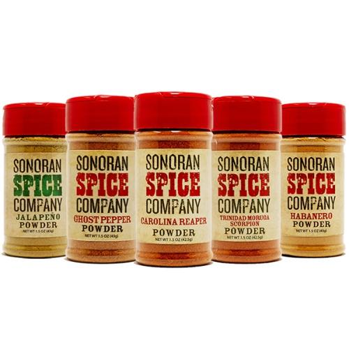 World's Hottest Pepper Powder 5 Pack Carolina Reaper Powder Sonoran Spice