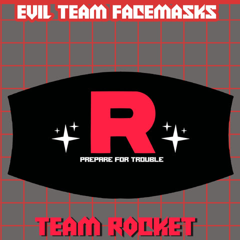 Team Rocket Face Mask