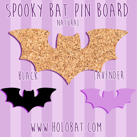 Spooky Bat Pin Board