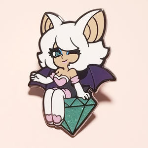 Rouge The Bat Enamel Pin