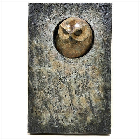 Small Little Owl Plaque by Adam Binder
