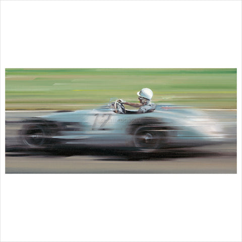 On the Limit - Stirling Moss by Anthony Dobson