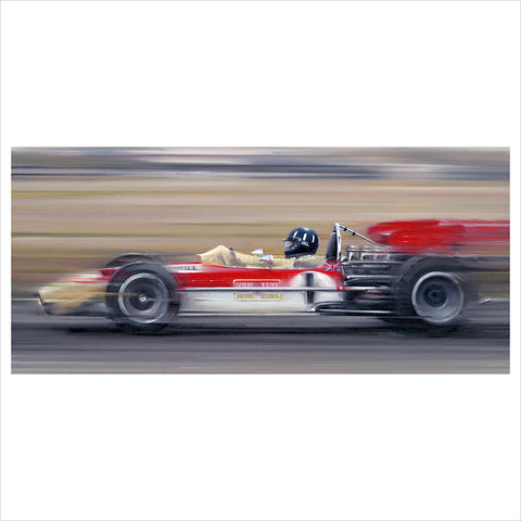 On the Limit - Graham Hill by Anthony Dobson