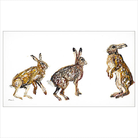 Trio of Hares by Becky Mair
