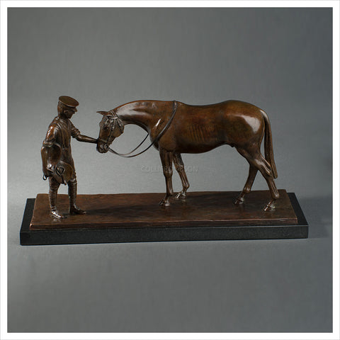 Soldier and Horse by Geoge Bingham