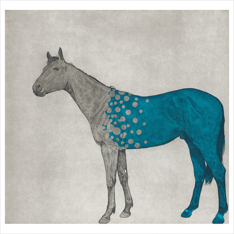 Horse Study - Blue Bubbles by Guy Allen