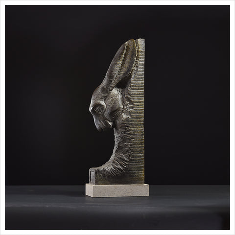 Hare Head Carved by Hamish Mackie