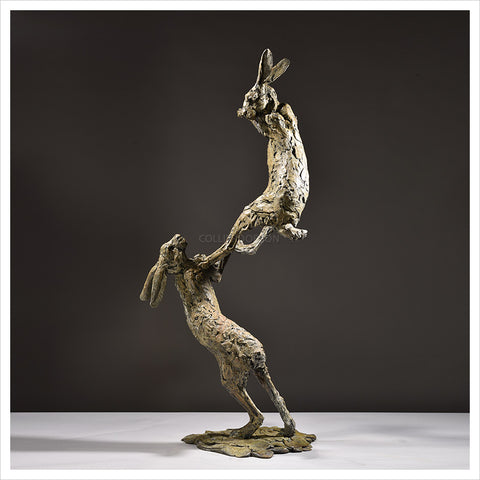 Hares Boxing by Hamish Mackie