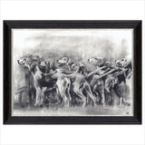 Charcoal Study of Hounds by Josie Appleby