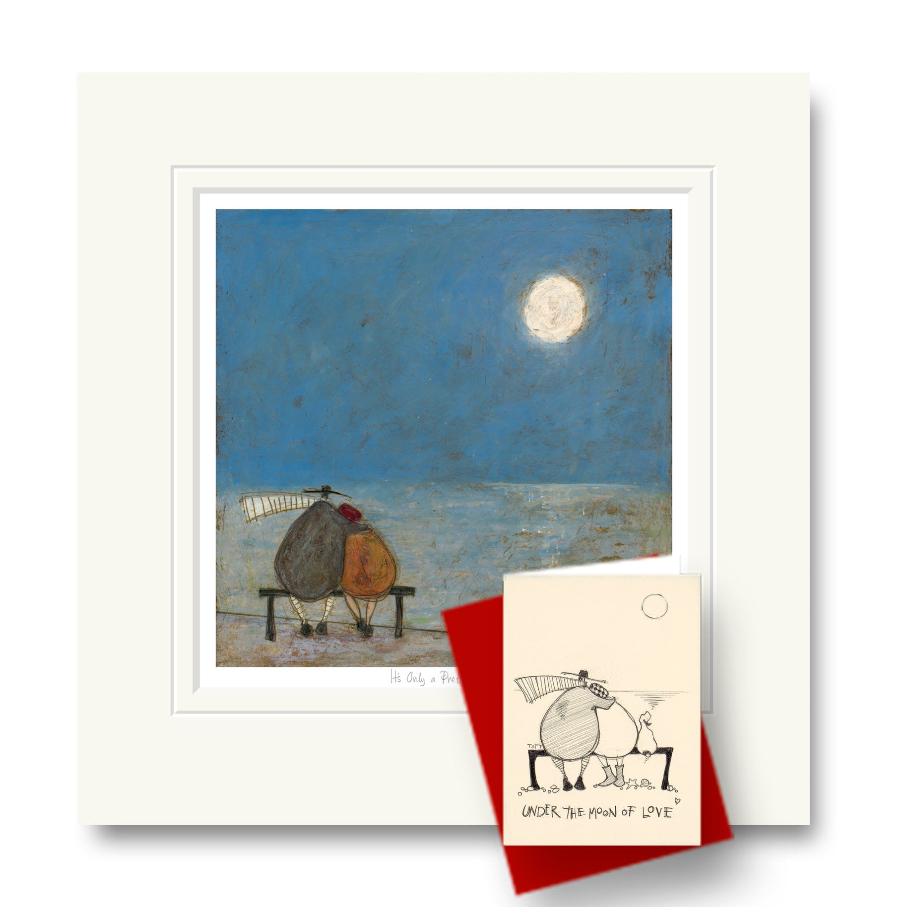 Sam toft limited edition print its only a pretty moon order on its only a pretty moon by sam toft framed print mounted print exclusive greetings card m4hsunfo