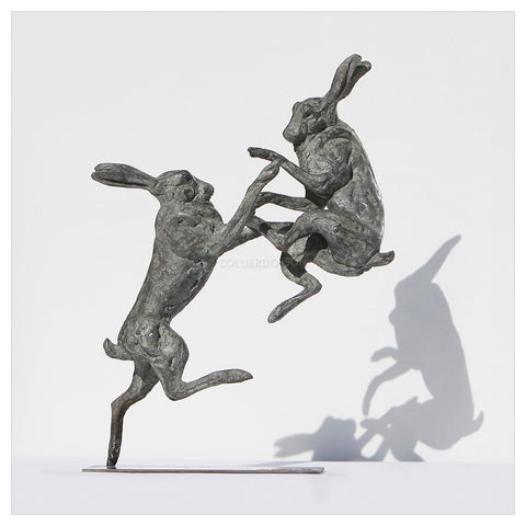 Hares by Sophie Louise White
