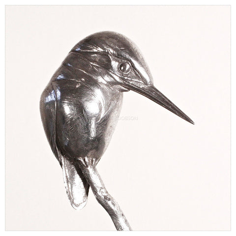 Kingfisher - Silver by Sophie Louise White