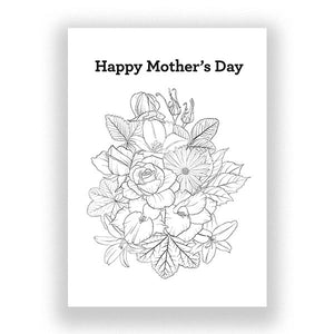 Mother's Card Colouring In Card - Free Printable