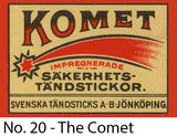 A Matchbox Collector's Card - No. 20 - The Comet
