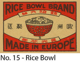 A Matchbox Collector's Card - No. 15 - The Rice Bowl
