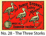 A Matchbox Collector's Card - No.28 - The Three Storks